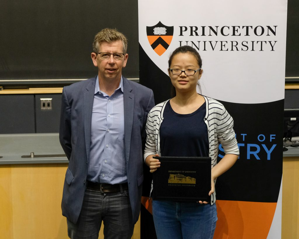Xiaoyu receives Department of Chemistry Grad Student Award!